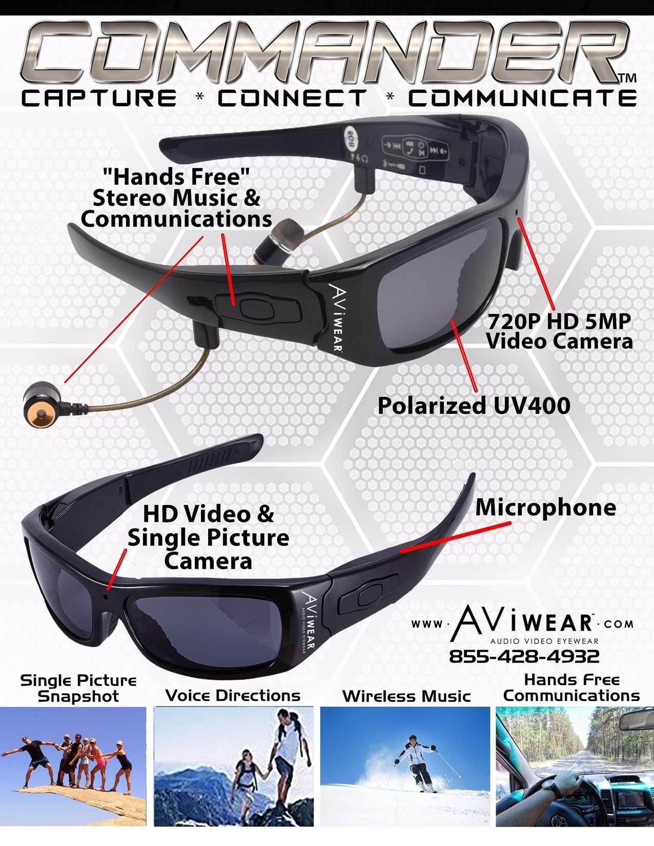commander spy glasses