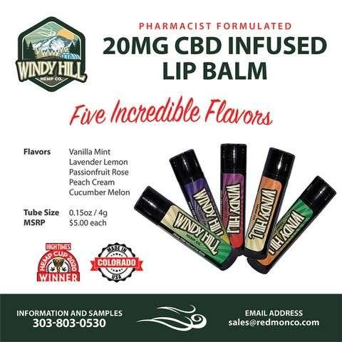 CBD Infused Lip Balms 1